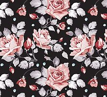 Stylish Vintage Pink Floral Pattern by sale