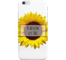 Pi Beta Phi Sunflower iPhone Case/Skin