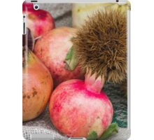 pomegranate and curly chestnut iPad Case/Skin
