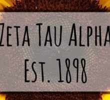 Zeta Tau Alpha Sunflower Sticker