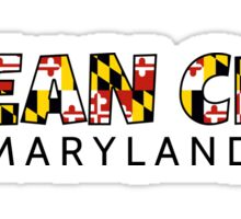 Ocean City Maryland flag word art Sticker