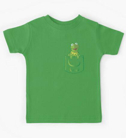 Kermit Pocket - muppet show Kids Tee