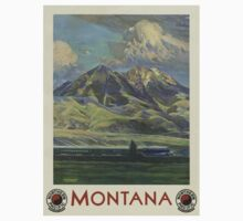 Vintage poster - Montana Baby Tee