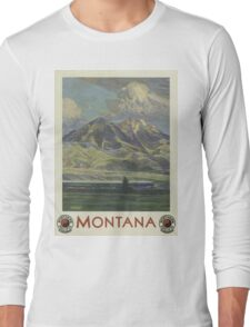 Vintage poster - Montana Long Sleeve T-Shirt