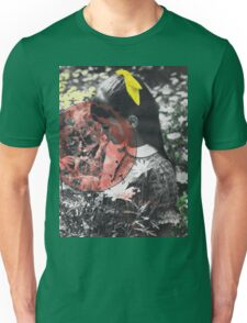 Girl with Flowers, Vintage Collage Unisex T-Shirt
