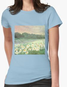 SUNSET OVER DAISY-MEADOW - A Dream of Peace may fill your Heart Womens Fitted T-Shirt