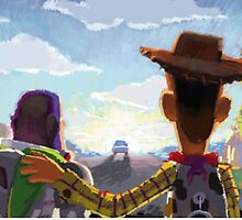 Toy Story - Buzz and Woody by chongjeejee
