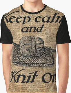 Keep Calm And Knit On Graphic T-Shirt