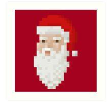 Santa face Art Print