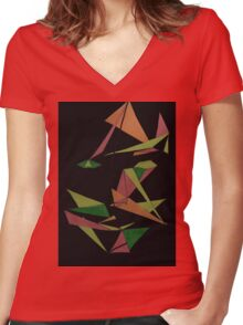 Layer Face Women's Fitted V-Neck T-Shirt