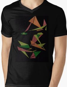 Layer Face Mens V-Neck T-Shirt
