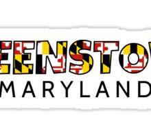Queenstown Maryland flag word art Sticker