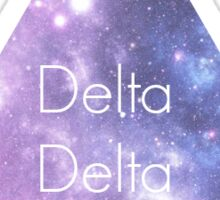 Delta Delta Delta Galaxy Sticker