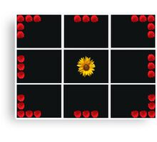 Colorful red and yellow flowers composition Canvas Print