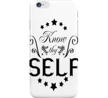 Know Thyself black/white iPhone Case/Skin