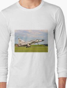 SAAB AJS 37 Viggen 37098/52 SE-DXN lifting off Long Sleeve T-Shirt