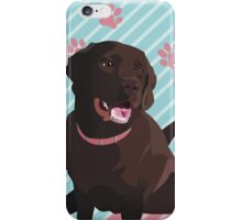 Daddy's Girl, Vector Chocolate Lab Art iPhone Case/Skin