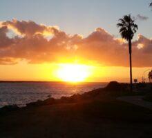 Beach Sunset in San Diego California Sticker