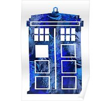 Tardis Watercolor - Doctor Who Poster