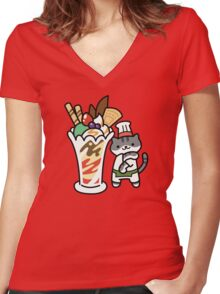 Guy Furry - Parfait Women's Fitted V-Neck T-Shirt