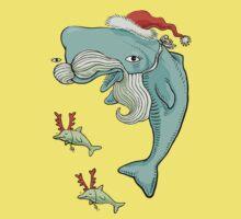 Christmas Whale One Piece - Short Sleeve