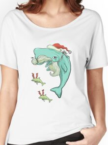 Christmas Whale Women's Relaxed Fit T-Shirt