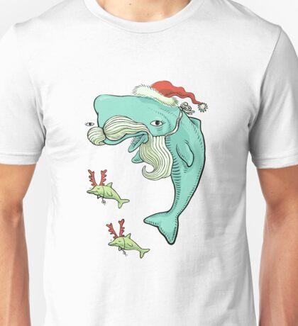 Christmas Whale Unisex T-Shirt