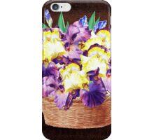 Basket With Iris Flowers iPhone Case/Skin