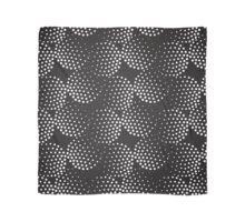 Pattern with abstract circles gradation, black and white Scarf