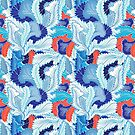 Winter patterns feathers by Tanor