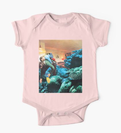 Little Family, Vintage Collage One Piece - Short Sleeve