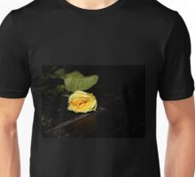 Yellow rose on an empty stage Unisex T-Shirt