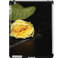 Yellow rose on an empty stage iPad Case/Skin