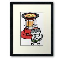 Guy Furry - Pizza Framed Print