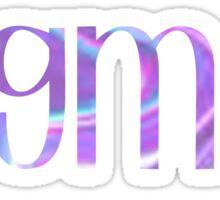 Alpha Sigma Alpha - Purple and Blue Sticker