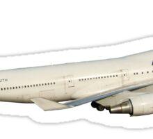 AF 747 with landing gear Sticker