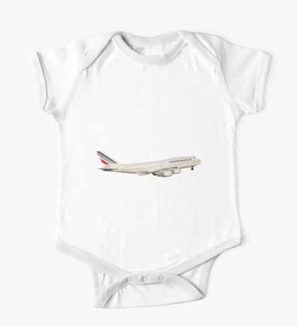 AF 747 with landing gear One Piece - Short Sleeve