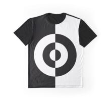 Two Tone Bullseye Vertical Graphic T-Shirt