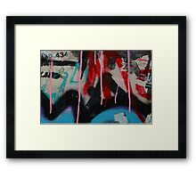 Graffiti with paint drips Framed Print