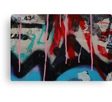 Graffiti with paint drips Canvas Print