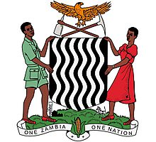 Coat of Arms of Zambia  Photographic Print