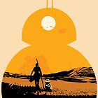 Star Wars The Force Awakens BB8 Poster by Chris Kalafatis