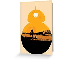 Star Wars The Force Awakens BB8 Poster Greeting Card