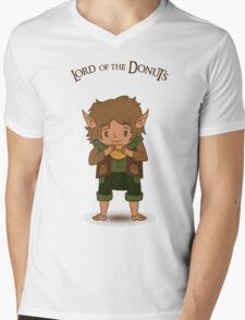 frodo, lord of the rings, donut Mens V-Neck T-Shirt