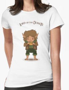 frodo, lord of the rings, donut Womens Fitted T-Shirt