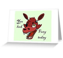 Foxy the Pirate Fox Pickup line Greeting Card