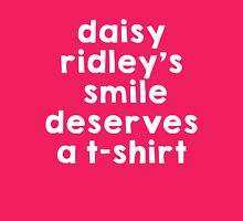 Daisy Ridley's smile Womens Fitted T-Shirt