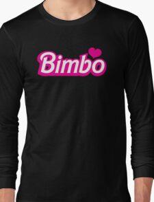 Bimbo in cute little dolly doll font Long Sleeve T-Shirt