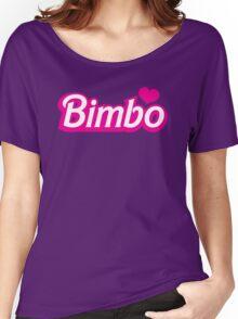 Bimbo in cute little dolly doll font Women's Relaxed Fit T-Shirt