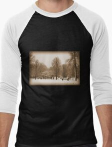 A Winter's Scene Men's Baseball ¾ T-Shirt